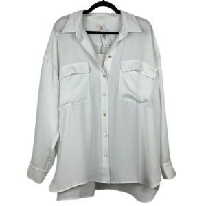 NWT Aritzia Wilfred Cabo Satin Oversized Blouse